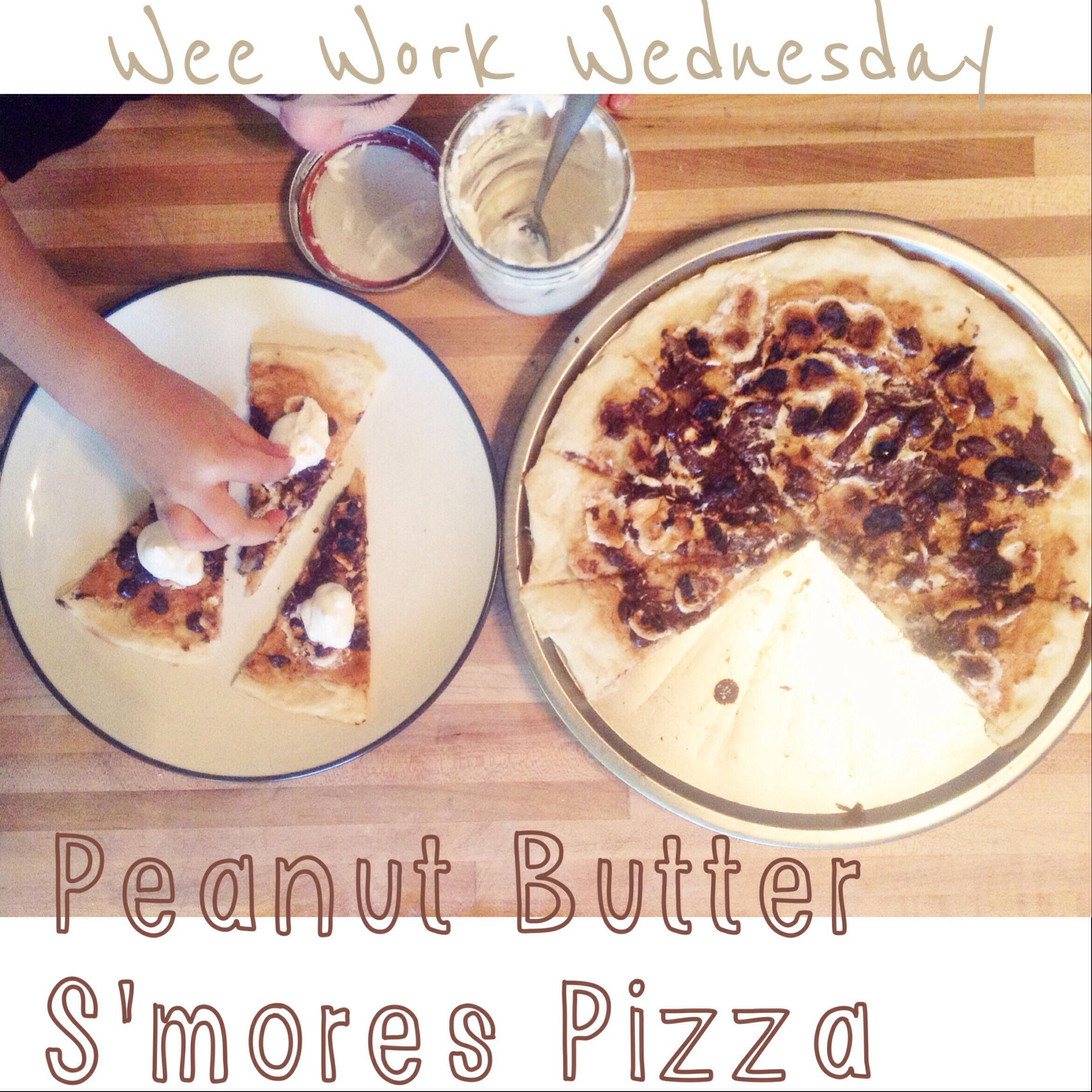 peanut butter s'mores pizza