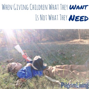 When Giving Children What They Want is Not What They Need